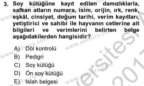 Veteriner Hizmetleri Mevzuatı ve Etik Dersi 2016 - 2017 Yılı 3 Ders Sınav Soruları 3. Soru