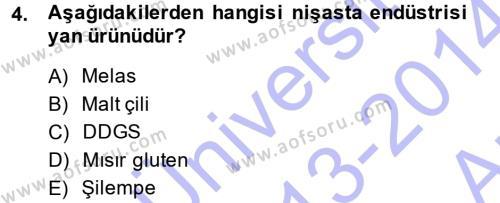 Temel Yem Bilgisi ve Hayvan Besleme Dersi 2013 - 2014 Yılı (Vize) Ara Sınav Soruları 4. Soru