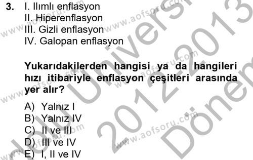 Hayvancılık Ekonomisi Dersi 2012 - 2013 Yılı (Final) Dönem Sonu Sınav Soruları 3. Soru