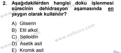 Temel Veteriner Patoloji Dersi 2012 - 2013 Yılı (Final) Dönem Sonu Sınav Soruları 2. Soru