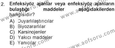 Temel Veteriner Patoloji Dersi 2012 - 2013 Yılı Tek Ders Sınavı 2. Soru