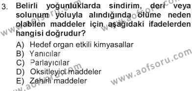 Temel Veteriner Patoloji Dersi 2012 - 2013 Yılı Tek Ders Sınavı 3. Soru