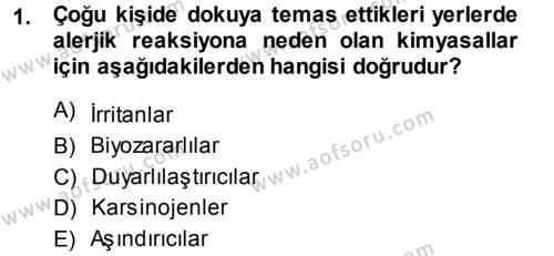 Laborant ve Veteriner Sağlık Bölümü 3. Yarıyıl Temel Veteriner Patoloji Dersi 2014 Yılı Güz Dönemi Dönem Sonu Sınavı 1. Soru