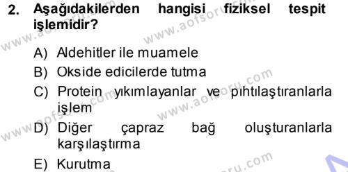 Temel Veteriner Patoloji Dersi 2013 - 2014 Yılı (Final) Dönem Sonu Sınav Soruları 2. Soru