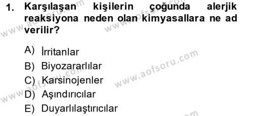 Temel Veteriner Patoloji Dersi 2014 - 2015 Yılı (Vize) Ara Sınav Soruları 1. Soru