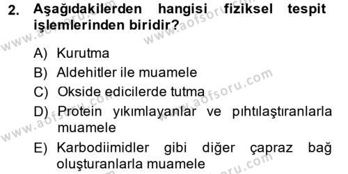 Temel Veteriner Patoloji Dersi 2014 - 2015 Yılı (Final) Dönem Sonu Sınav Soruları 2. Soru