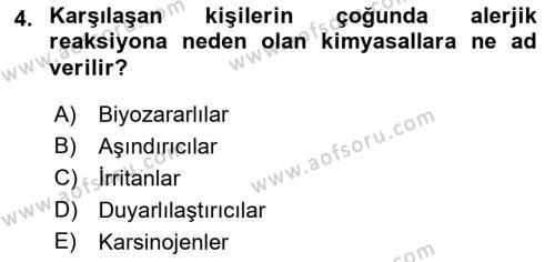 Temel Veteriner Patoloji Dersi 2018 - 2019 Yılı (Vize) Ara Sınav Soruları 4. Soru