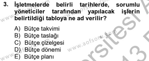 Lojistik Maliyetleri ve Raporlama 2 Dersi 2012 - 2013 Yılı (Vize) Ara Sınav Soruları 3. Soru