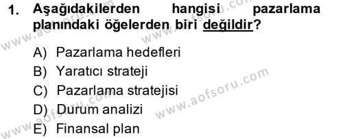 Reklamcılık Dersi 2013 - 2014 Yılı Dönem Sonu Sınavı 1. Soru