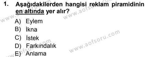 Medya Planlama Dersi 2012 - 2013 Yılı (Final) Dönem Sonu Sınav Soruları 1. Soru