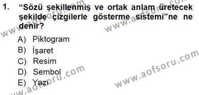 Haberciliğin Temel Kavramları Dersi 2012 - 2013 Yılı Dönem Sonu Sınavı 1. Soru