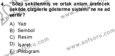 Haberciliğin Temel Kavramları Dersi 2013 - 2014 Yılı Ara Sınavı 4. Soru
