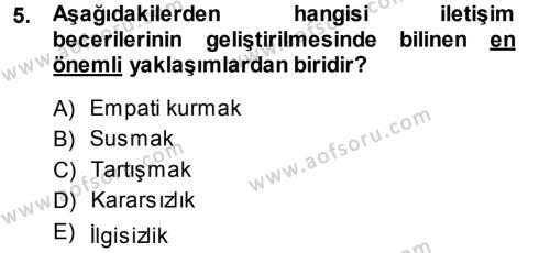 Medya ve İletişim Bölümü 1. Yarıyıl Medya ve İletişim Dersi 2014 Yılı Güz Dönemi Ara Sınavı 5. Soru