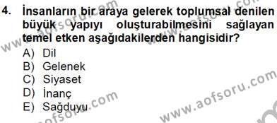 Medya ve İletişim Bölümü 1. Yarıyıl Siyasal İletişim Dersi 2013 Yılı Güz Dönemi Ara Sınavı 4. Soru