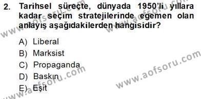 Medya ve İletişim Bölümü 1. Yarıyıl Siyasal İletişim Dersi 2015 Yılı Güz Dönemi Ara Sınavı 2. Soru