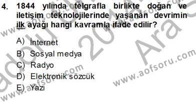 Medya ve İletişim Bölümü 1. Yarıyıl Siyasal İletişim Dersi 2015 Yılı Güz Dönemi Ara Sınavı 4. Soru