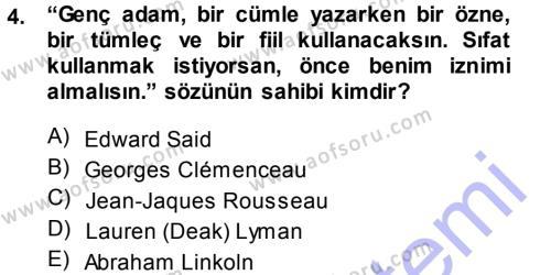 Haber Yazma Teknikleri Dersi 2013 - 2014 Yılı Ara Sınavı 4. Soru