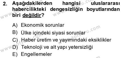 Haber Türleri Dersi 2014 - 2015 Yılı (Final) Dönem Sonu Sınav Soruları 2. Soru