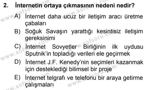 Medya ve İletişim Bölümü 3. Yarıyıl İnternet Yayıncılığı Dersi 2013 Yılı Güz Dönemi Ara Sınavı 2. Soru