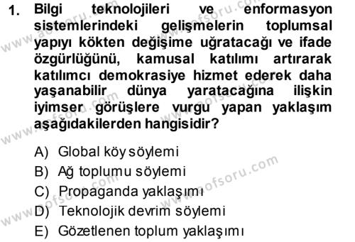 Medya ve İletişim Bölümü 3. Yarıyıl İnternet Yayıncılığı Dersi 2014 Yılı Güz Dönemi Ara Sınavı 1. Soru