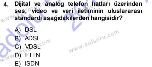 Medya ve İletişim Bölümü 3. Yarıyıl İnternet Yayıncılığı Dersi 2014 Yılı Güz Dönemi Ara Sınavı 4. Soru