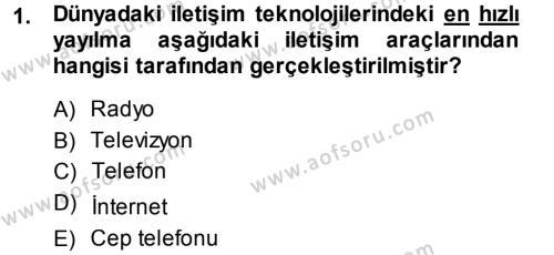 İnternet Yayıncılığı Dersi 2013 - 2014 Yılı Dönem Sonu Sınavı 1. Soru