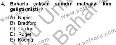 Medya ve İletişim Bölümü 4. Yarıyıl Medya Ekonomisi ve İşletmeciliği Dersi 2013 Yılı Bahar Dönemi Dönem Sonu Sınavı 4. Soru