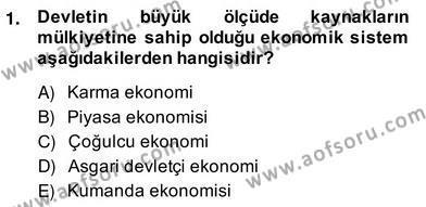 Medya Ekonomisi ve İşletmeciliği Dersi 2013 - 2014 Yılı Ara Sınavı 1. Soru