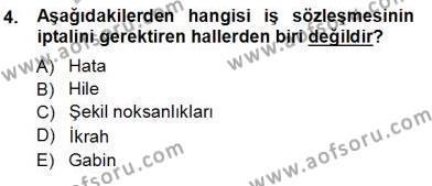 Medya ve İletişim Bölümü 3. Yarıyıl Medyada Çalışma Hayatı Dersi 2013 Yılı Güz Dönemi Ara Sınavı 4. Soru