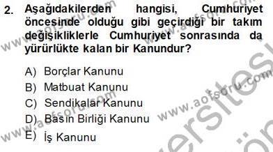 Medya ve İletişim Bölümü 3. Yarıyıl Medyada Çalışma Hayatı Dersi 2014 Yılı Güz Dönemi Dönem Sonu Sınavı 2. Soru