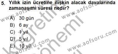 Medya ve İletişim Bölümü 3. Yarıyıl Medyada Çalışma Hayatı Dersi 2016 Yılı Güz Dönemi Dönem Sonu Sınavı 5. Soru