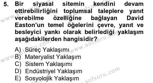 Medya ve İletişim Bölümü 4. Yarıyıl Medya Siyaset Kültür Dersi 2013 Yılı Bahar Dönemi Ara Sınavı 5. Soru