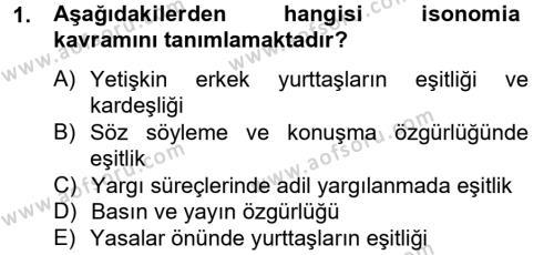 Medya Siyaset Kültür Dersi 2012 - 2013 Yılı Dönem Sonu Sınavı 1. Soru