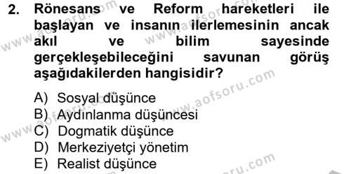 Medya Siyaset Kültür Dersi 2012 - 2013 Yılı Dönem Sonu Sınavı 2. Soru