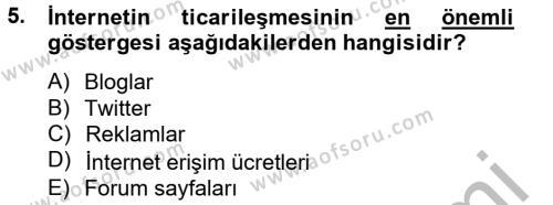 Medya ve İletişim Bölümü 4. Yarıyıl Medya Siyaset Kültür Dersi 2013 Yılı Bahar Dönemi Dönem Sonu Sınavı 5. Soru