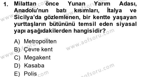 Medya Siyaset Kültür Dersi 2013 - 2014 Yılı Dönem Sonu Sınavı 1. Soru