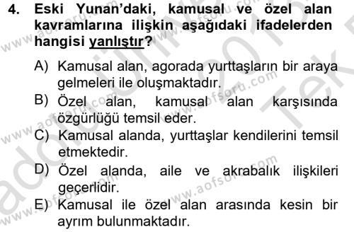 Medya ve İletişim Bölümü 4. Yarıyıl Medya Siyaset Kültür Dersi 2014 Yılı Bahar Dönemi Tek Ders Sınavı 4. Soru
