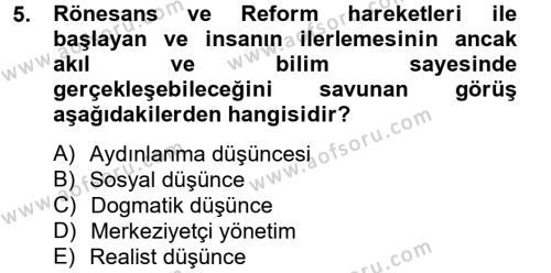 Medya ve İletişim Bölümü 4. Yarıyıl Medya Siyaset Kültür Dersi 2014 Yılı Bahar Dönemi Tek Ders Sınavı 5. Soru