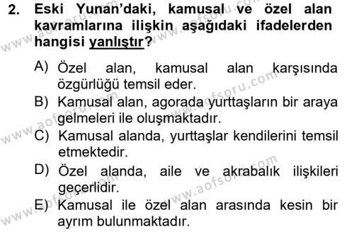 Medya ve İletişim Bölümü 4. Yarıyıl Medya Siyaset Kültür Dersi 2015 Yılı Bahar Dönemi Dönem Sonu Sınavı 2. Soru