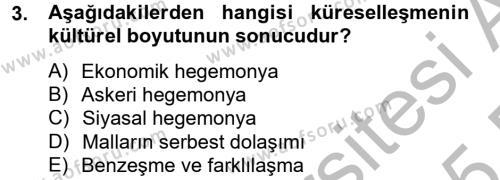 Medya ve İletişim Bölümü 4. Yarıyıl Medya Siyaset Kültür Dersi 2015 Yılı Bahar Dönemi Dönem Sonu Sınavı 3. Soru