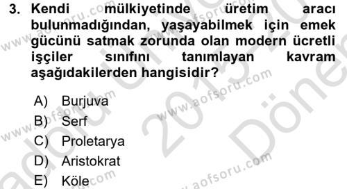 Medya Siyaset Kültür Dersi 2015 - 2016 Yılı (Final) Dönem Sonu Sınav Soruları 3. Soru