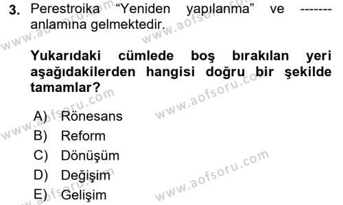 Medya Siyaset Kültür Dersi 2017 - 2018 Yılı (Final) Dönem Sonu Sınav Soruları 3. Soru