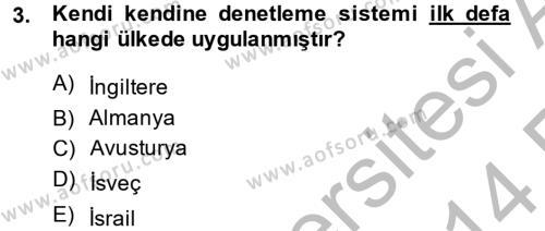 Medya ve Etik Dersi 2013 - 2014 Yılı Ara Sınavı 3. Soru