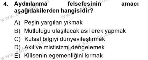 Medya ve Etik Dersi 2014 - 2015 Yılı Dönem Sonu Sınavı 4. Soru