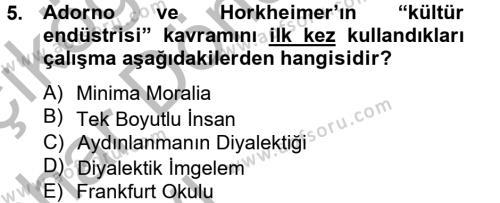 Halkla İlişkiler ve Reklamcılık Bölümü 8. Yarıyıl Medya ve Reklam Dersi 2013 Yılı Bahar Dönemi Ara Sınavı 5. Soru