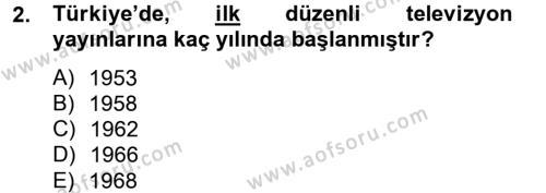 Medya ve Reklam Dersi 2012 - 2013 Yılı Dönem Sonu Sınavı 2. Soru