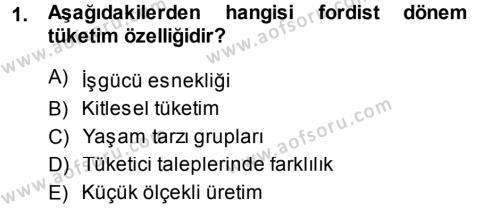 Medya ve İletişim Bölümü 4. Yarıyıl Medya ve Reklam Dersi 2014 Yılı Bahar Dönemi Ara Sınavı 1. Soru