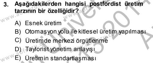 Medya ve Reklam Dersi 2013 - 2014 Yılı Ara Sınavı 3. Soru