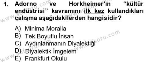 Medya ve İletişim Bölümü 4. Yarıyıl Medya ve Reklam Dersi 2014 Yılı Bahar Dönemi Tek Ders Sınavı 1. Soru