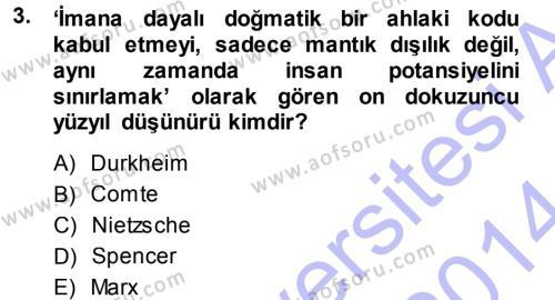 Kültürel Miras ve Turizm Bölümü 1. Yarıyıl Mitoloji ve Din Dersi 2014 Yılı Güz Dönemi Dönem Sonu Sınavı 3. Soru